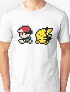 8 Bit Ash and pikachu T-Shirt