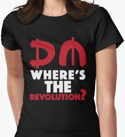 Where's The Revolution? Womens Fitted T-Shirt