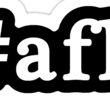AFK - Hashtag - Black & White Sticker
