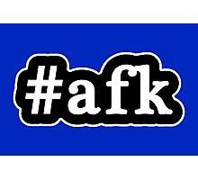 AFK - Hashtag - Black & White Photographic Print