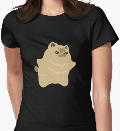 Dee Dee the Pomeranian Puppy  Womens Fitted T-Shirt