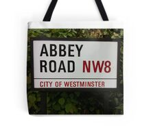 Abbey Road Sign, London Tote Bag