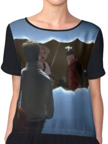 bttf doctor who Chiffon Top