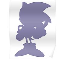Classic Sonic Silhouette Poster