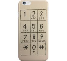 Hand Drawn Dialpad In Ink iPhone Case/Skin
