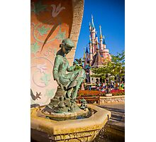 Cinderella Fountain at Disneyland Paris Photographic Print