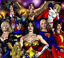 WONDER WOMAN and friends by Theboy1der100