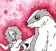 Bernadette and the Badgerbear by sealskinstudios