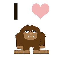 I heart Bigfoot by Eggtooth