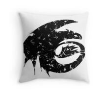 Toothless Silhouette Tee  Throw Pillow