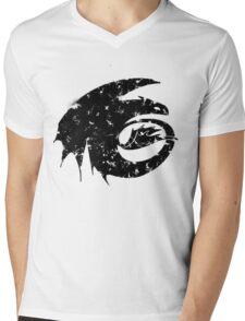 Toothless Silhouette Tee  Mens V-Neck T-Shirt
