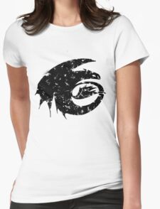 Toothless Silhouette Tee  Womens Fitted T-Shirt