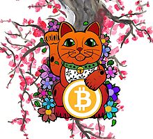 Lucky Bitcoin Cat by tinaodarby