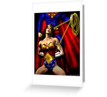 WONDER WOMAN vs SUPERMAN Greeting Card