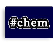 Chem - Hashtag - Black & White Canvas Print