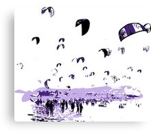 Tarifa Kite Surfing City Canvas Print