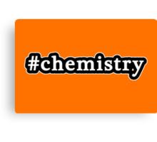 Chemistry - Hashtag - Black & White Canvas Print