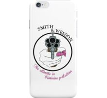 The ultimate in feminine protection iPhone Case/Skin