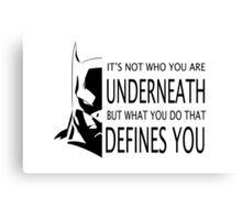 Batman Defined Canvas Print