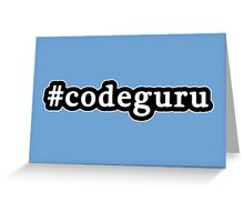 Code Guru - Hashtag - Black & White Greeting Card