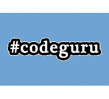 Code Guru - Hashtag - Black & White Photographic Print