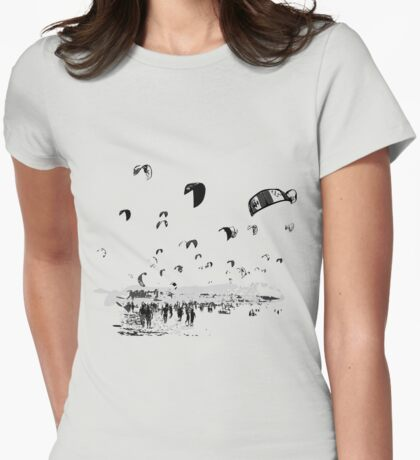 Kite Surfing Andalucia Womens Fitted T-Shirt