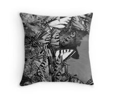Black and White Butter Throw Pillow