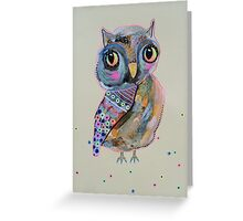 Quirky Owl 2 Greeting Card