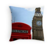 Clocks and phones Throw Pillow