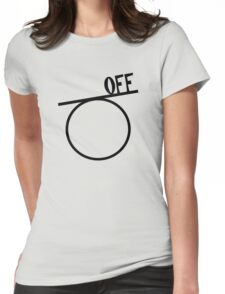Off on a tangent Womens Fitted T-Shirt