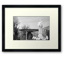 El Santuario de Chimayo Sculpture Garden 2 Framed Print