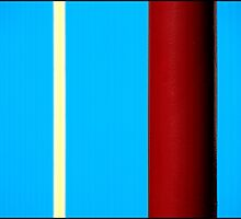 Stripes - On Blue by PaulBradley
