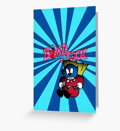 Arcade Classic - Bomb Jack Greeting Card