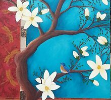 Blue Magnolia by Leanne Inwood