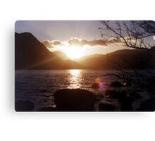 Ullswater Sunset Canvas Print