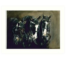 Three Cavalry Blacks Art Print