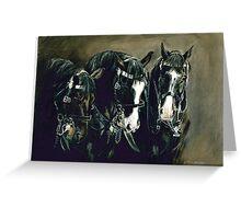 Three Cavalry Blacks Greeting Card