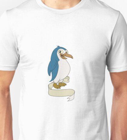 Penguin Ribbon Scroll Cartoon Unisex T-Shirt