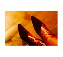 Red boots Art Print