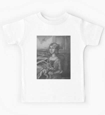 Lady with a Styracosaur Kids Tee