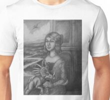 Lady with a Styracosaur Unisex T-Shirt