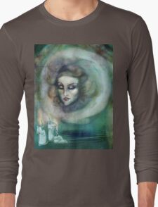 Let There Be Music - Madame Leota Haunted Mansion Art Long Sleeve T-Shirt