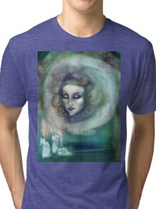 Let There Be Music - Madame Leota Haunted Mansion Art Tri-blend T-Shirt