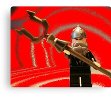 Mongolian Warrior Chief Custom Minifig Canvas Print