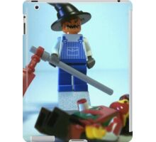 Scary Halloween Scarecrow Custom Minifig iPad Case/Skin
