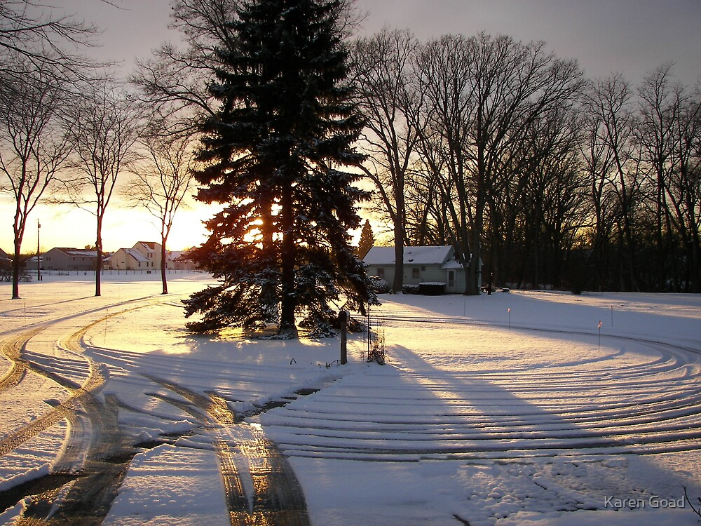 Snow tracks... by Karen Goad