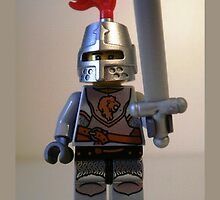 Lion Knight Minifigure with Armor Lion Head and Belt by Customize My Minifig