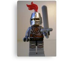 Lion Knight Minifigure with Armor Lion Head and Belt Canvas Print
