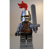 Lion Knight Minifigure with Armor Lion Head and Belt Photographic Print