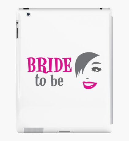 Bride to be with pretty happy lady smiling iPad Case/Skin